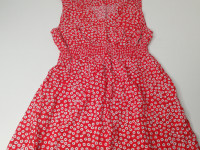 Robe rouge fleurie Taille M - photo 7